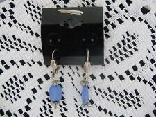 Fashion Jewelry Earrings ~ Dangle Blue Stone ~ **Gift Idea