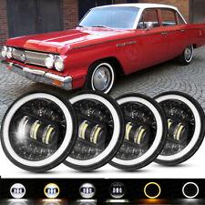 "4PCS 5 3/4 5.75"" LED Headlights Hi/Low Beam DRL Lamp for Buick Skylark 1961-1972"