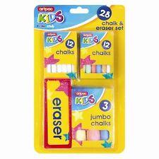 28 pezzi Chalk & gomma Set bambini Artigianato Set regalo ideale per lavagna