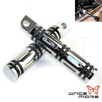 2x Chrome CNC Male Mount Foot Pegs Rest For Harley-Davidson Motorcycle Touring