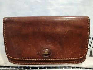 The Bridge vintage large brown leather purse wallet