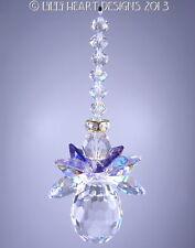m/w Swarovski Vintage Beads + Rare AB Wings Angel SunCatcher Lilli Heart Designs