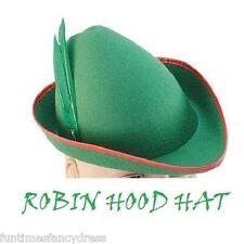 Felt Robin Hood Peter Pan Elf Hat Medieval Hat German Bavarian Fancy Dress BA
