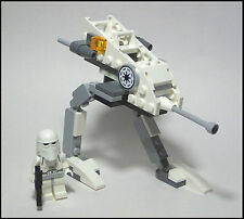 ☆NEW☆ Custom LEGO Star Wars 8014 SNOW-WALKER & Clone Trooper Minifigure W/ Gun!