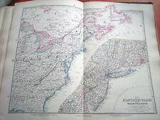 c32-1-80 Carte atlas Stieler Est de Etats Unis entre Boston et Washington