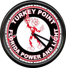 Reddy Kilowatt Electrician Turkey Point Florida Power Light Sign Wall Clock