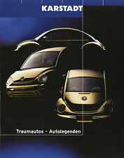 Prospekt Karstadt Modellautos 1:18 1999 (D) New Beetle CLK GTR Viper GTS Isetta