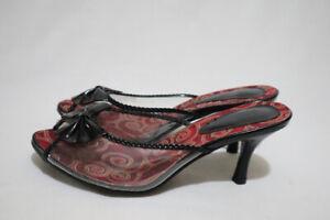 Size 7 Womens Peep Toe Bow Tied Knot Detail Transparent Half Shoe