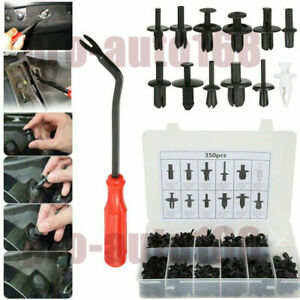350pcs Car Body Plastic Push Pin Rivet Fasteners Trim Moulding Clips Screwdriver