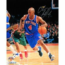 More details for nba new york knicks chauncey billups dribble up court signed 8x10 photograph