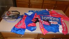 NWT Adriani Wear  Cycling Set Jersey Gloves Padded Shorts Mens XL