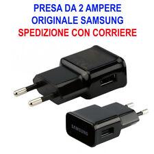 Caricabatterie Alimentatore Presa Muro USB Originale Samsung 2A S3 S4 Nero S2