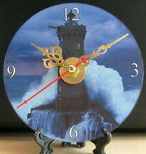 Brand New -- Lighthouse CD Clock  La Jument France Stormy Huge Waves