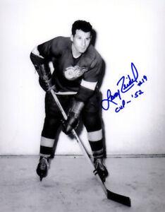 1 - 8 x 10 Photo autographed by Larry Zeidel  - Detroit Red Wings Colour