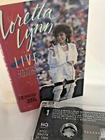 VTG LORETTA LYNN Live from the Wheeling Jamboree 1986 Cassette Tape TESTED WORKS