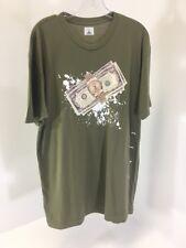 LQXIII MEN'S TIME IS MONEY SHORT SLEEVE T SHIRT OLIVE XL NWOT $60