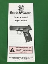 Original Smith & Wesson Sigma Pistols Owner'S Manual