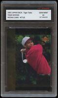 TIGER WOODS 2001 UPPER DECK UD PGA USA/GOLF/GOLFER 1ST GRADED 10 ROOKIE CARD RC
