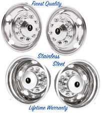 "19.5"" CHEVY CHEVROLET & GMC 3500HD 10 LUG WHEEL SIMULATOR RIM LINER COVERS ©"