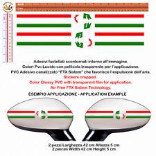 Bandiera italia abarth adesivi specchietti italy Flag Sticker Wing Mirror 2 pz.