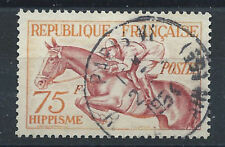 "France N°965 Obl (FU) 1953 - J.O d'Helsinki ""Hippisme"""