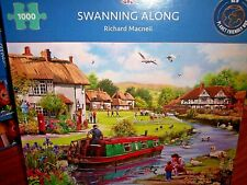 *SWANNING ALONG - CANALS* GIBSONS 1000 PIECES JIGSAW PUZZLE. NEW!