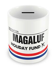 MAGALUF Holiday Fund Money Box - Gift Idea Travelling Savings Piggy Bank