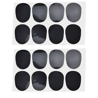 16pcs Alto/tenor Sax Clarinet Mouthpiece Patches Pads Cushions, 0.8mm BlacRCUS