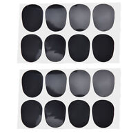 16pcs Alto/tenor Sax Clarinet Mouthpiece Patches Pads Cushions, 0.8mm Black H&P