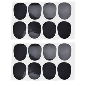 16pcs Alto/tenor Sax Clarinet Mouthpiece Patches Pads Cushions, 0.8mm BlackN HO