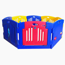 New MAMAKIDS Baby Child Kids 8 Sided Plastic Play pen Playpen W/ Safety Gate