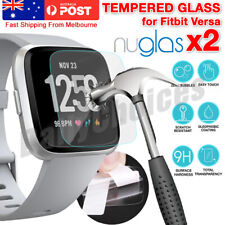 2x Genuine Nuglas 9H Tempered Full Glass Screen Protector For Fitbit Versa