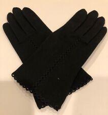 Vintage Crescendoe Gloves All Cotton w. Crochet Accent Size 7 Nos