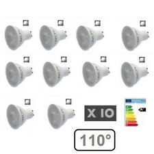 LOT 10 AMPOULE LED GU10 5W 6000K BLANC FROID - ANGLE PROJECTION 110°
