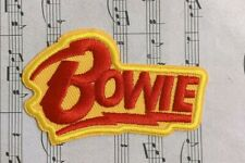 David Bowie Shaped Embroidered Logo Patch Iron-on Sew-on 1933