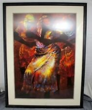 "Rhythm by Paul Goodnight 1988 32x42"" Framed & Matted African Art Litho Print"
