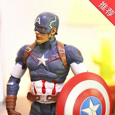 """Crazy Toy Marvel Captain America Action Figure Statue 8"""" New In Box Gift"""