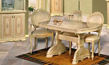 Tavolo da pranzo sala estendibile 200+50 PER 10 PERSONE IN beige laccato