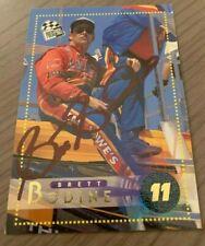 BRETT BODINE AUTOGRAPHED 1996 PRESS PASS CARD W/COA