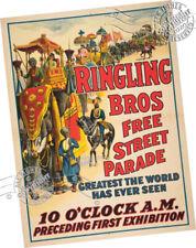 CIRCUS vintage ad poster HINES STROBRIDGE US 1882 24X36 spectacular prized