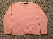 Carlucci Cashmere Collection Women's Peach Cashmere V-neck Sweater, Size Small