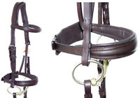 FSS FREEFORM Anatomic MONOCROWN CUT OUT Shaped TAPERED CAVESSON Noseband Bridle