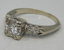 Estate Jewelry, Vintage Ladies 14kt White Gold Wedding Ring, Size 6 !!
