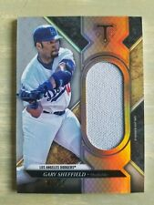 New listing 2017 Topps Triple Threads Unity Jumbo Relic game used jersey Gary Sheffield