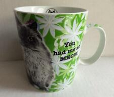 Konitz Germany Green Mug Cat Lovers Only Hello Himalayan Persian Mint