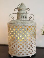 STUNNING Antique Moroccan Vintage Garden Candle Lantern Lamp Holder Large 4409