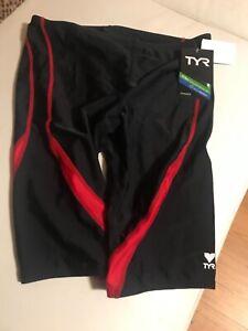 TYR Men's red black  Jammer  SZ 36