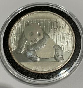 2015 1oz Silver Chinese Panda Coin in Capsule