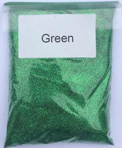 100g GREEN Glitter - ultra fine glass art craft festival sparkle