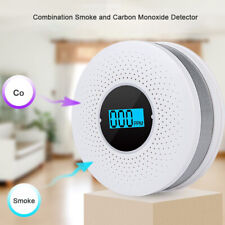 2 in 1 CO & Smoke Alarm Carbon Monoxide Detector Gas Warning Sensor Alert Alarm